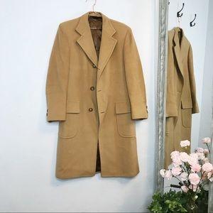 Jackets & Blazers - Merit vintage camel menswear inspired wool coat